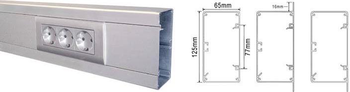 KANAL 125X65 VIT V125