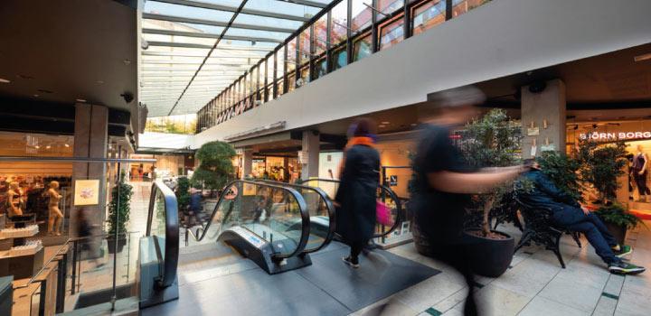 Gallerian säkrad med LDA utrymningslarm